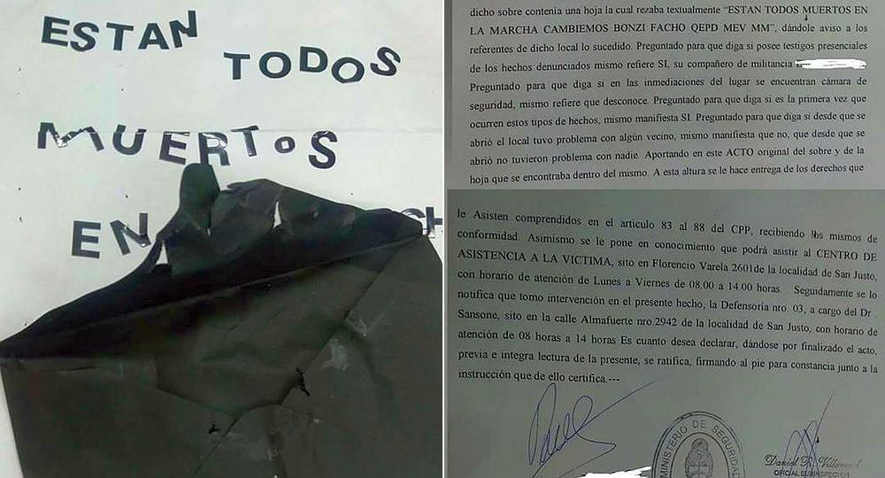 Las amenazas a Macri y Vidal