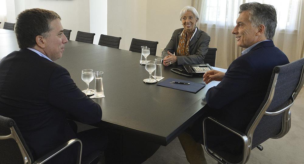 Macri, reunido con Dujovne y Lagarde, titular del FMI. (Foto: archivo)