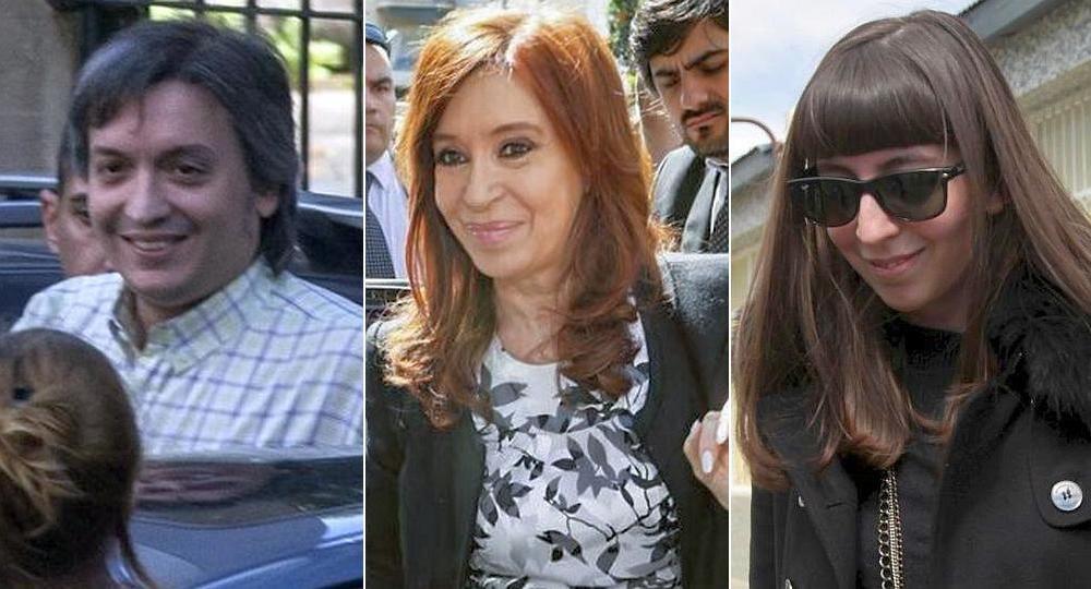 Máximo, Cristina y Florencia Kirchner serán enjuiciados por el presunto delito de lavado de dinero.