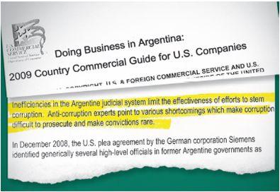EE UU , preocupado por corrupción y fin de AFJP