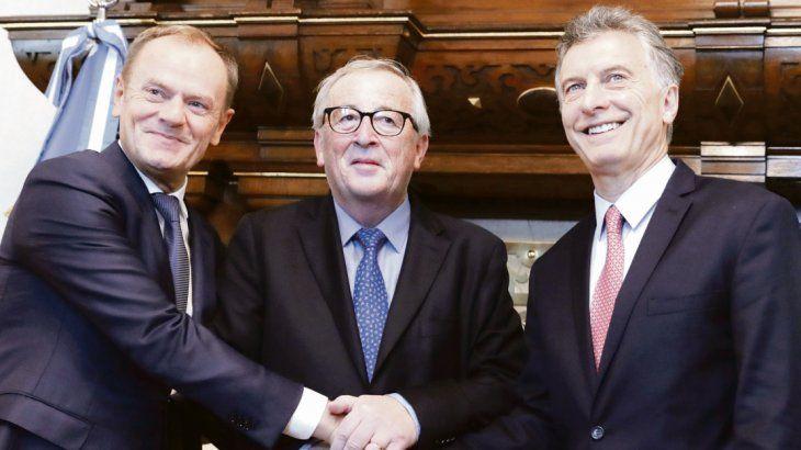 Europa. El polaco Donald Tusk y el luxemburgués Jean-Claude Junker