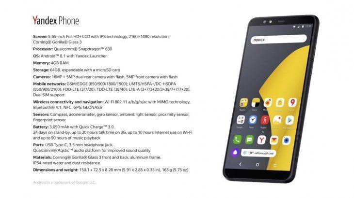 El smartphone ya está disponible en Moscú y a partir del 7 de diciembre se venderá online.