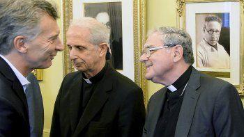 Macri recibió a monseñor Ojea, acompañado por el cardenal Mario Poli, en noviembre.