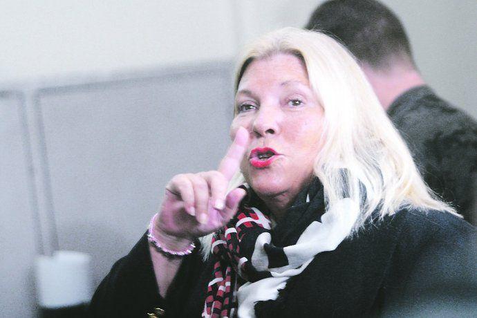 demandada. Elisa Carrió había pedido ampararse en sus fueros.