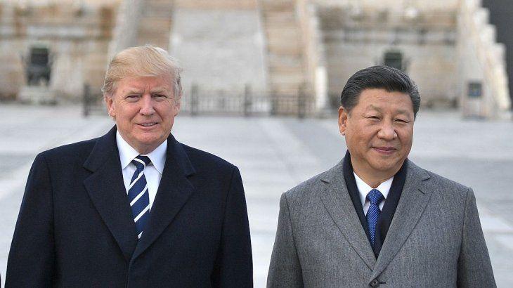 Trump y Xi en Beijing.