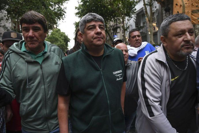 Pablo Moyano, uno de los dirigentes que convocó a la marcha.