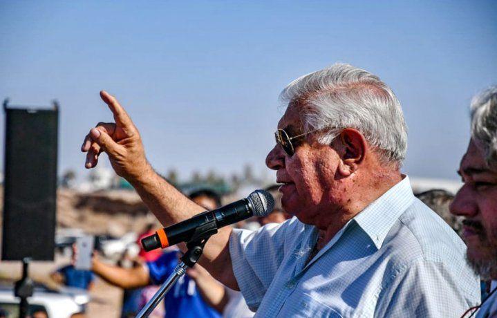 El gremialista petrolero y senador nacional del MPN, Guillerm Pereyra, buscará este domingo la renovación de su banca en la Cámara alta .