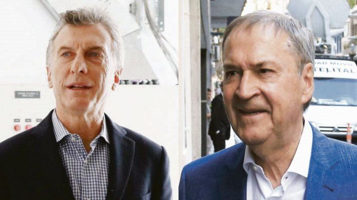 Mauricio Macri y Juan Schiaretti