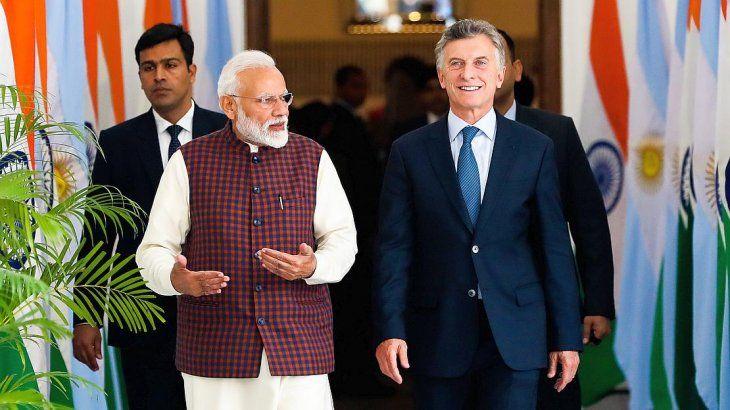 Macri se reunió con el premier indio y con empresarios y los invitó a invertir en Argentina