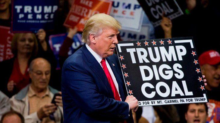 Trump basó parte de la campaña en su apoyo al carbón.