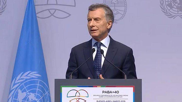 Macri abrió encuentro de la ONU: