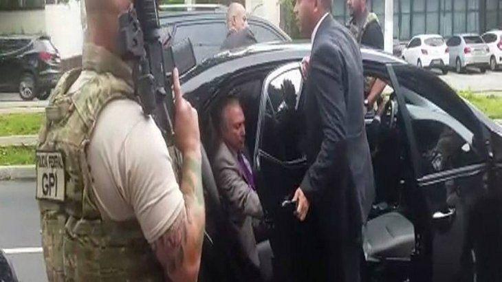 "Detuvieron al expresidente brasileño como presunto jefe de ""una organización criminal"""