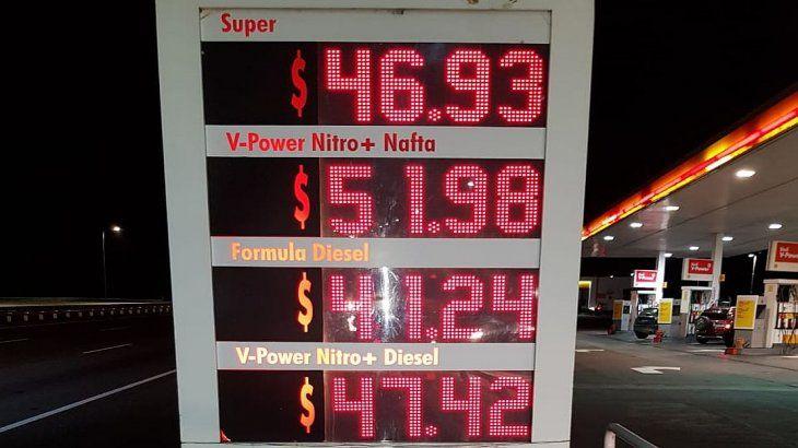 En Córdoba, el litro de V-Power roza los $52