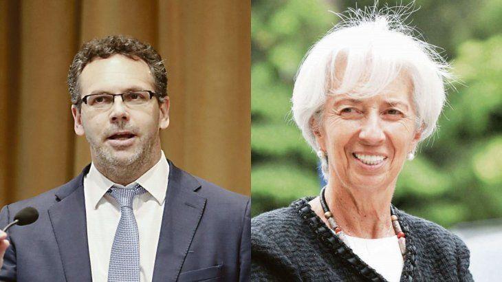 Guido Sandleris y Christine Lagarde