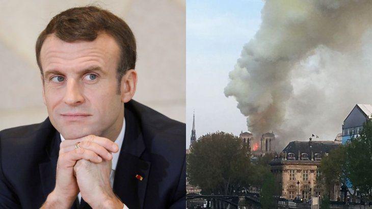Macron se dirige a Notre Dame: Estoy triste de ver quemarse esta parte de nosotros