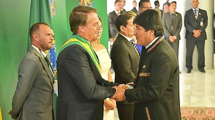 Jair Bolsonaro y Evo Morales.