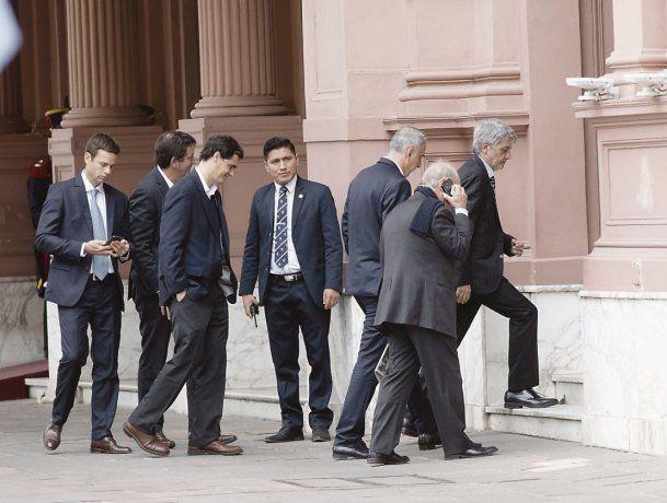 convocatoria. Empresarios que acordaron precios se reunieron ayer con Macri. Entre ellos Martín Cabrales