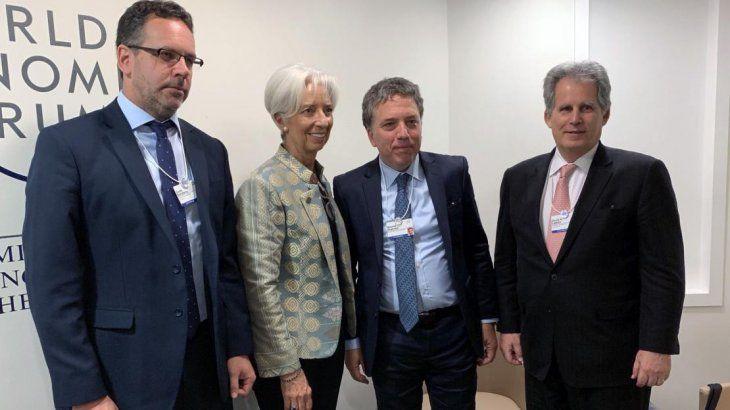 Sandleris, Lagarde, Dujovne y Lipton.