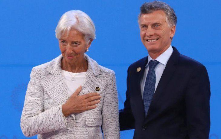 Lagarde junto a Macri.