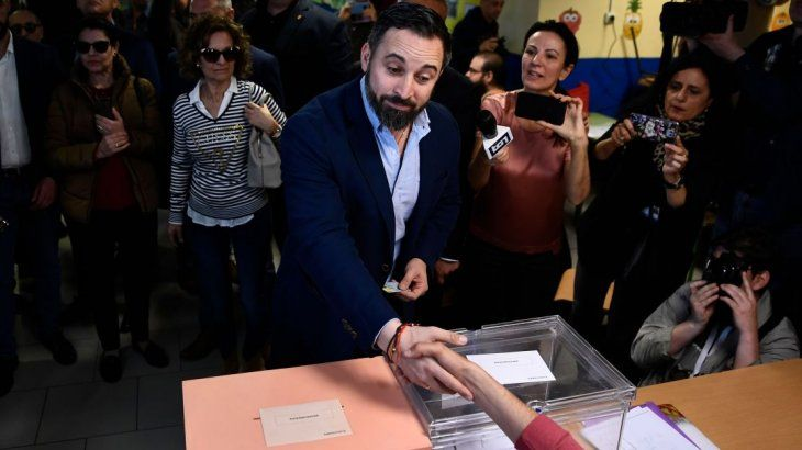 Santiago Abascal, candidato a presidente de Vox.