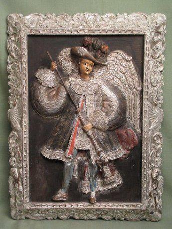 Arcángel Arcabucero. Ecuador, del siglo XIX. Cándido Silva.