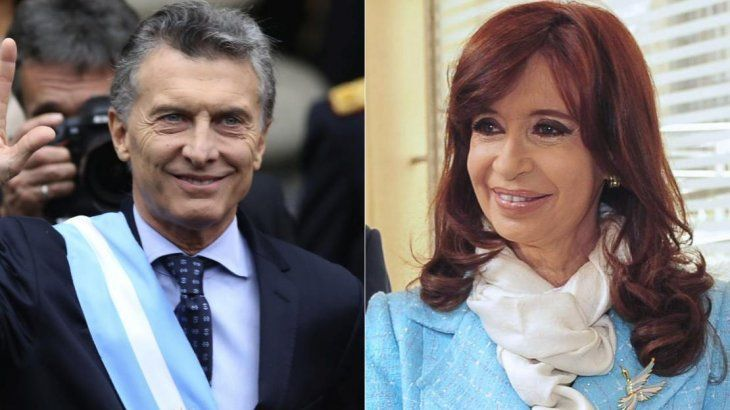 Mauricio Macri y Cristina de Kirchner.