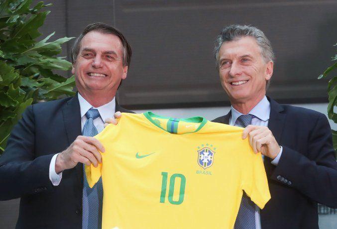 Jair Bolsonaro y Mauricio Macri.<br>