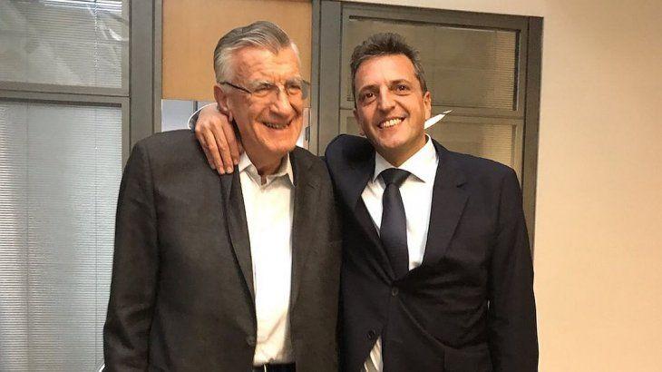 José Luis Gioja y Sergio Massa.