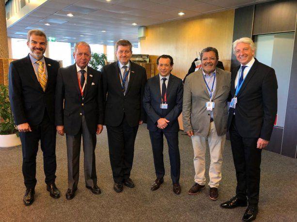 El ministro Dante Sica durante su participación en Conferencia anual de la OIT en Suiza.