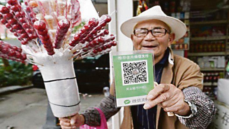 En China  hasta las limosnas son virtuales