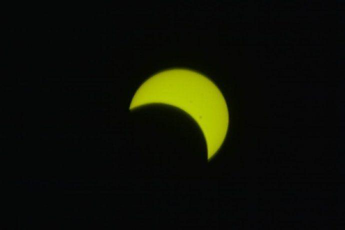 La vista del eclipse desde Merlo, San Luis.