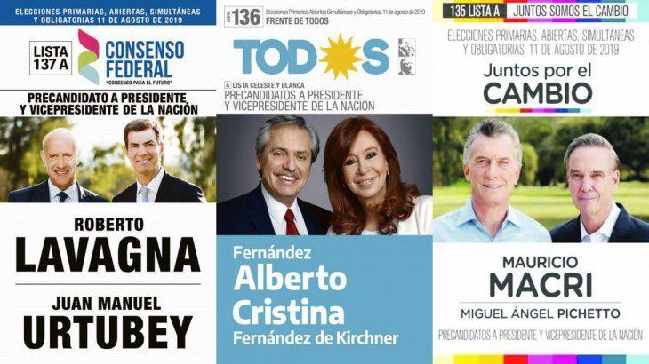 Elecciones 2019: éstas son las boletas de todos los candidatos