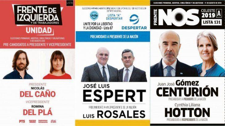 Elecciones 2019. Estas son las boletas de Del Caño