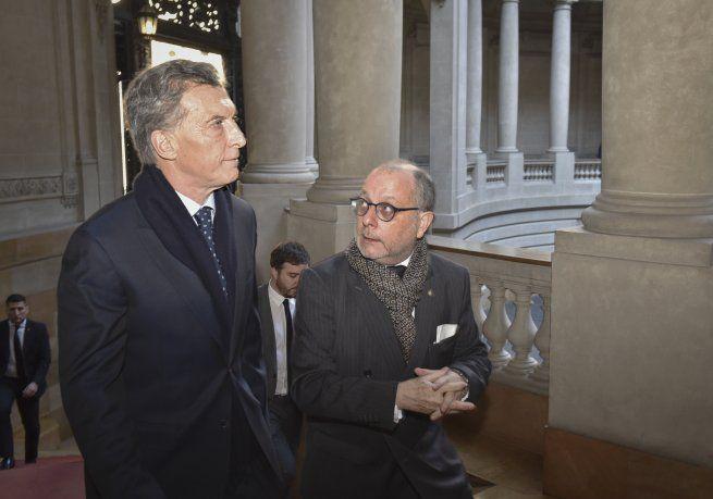 Mauricio Macri y Jorge Faurie.