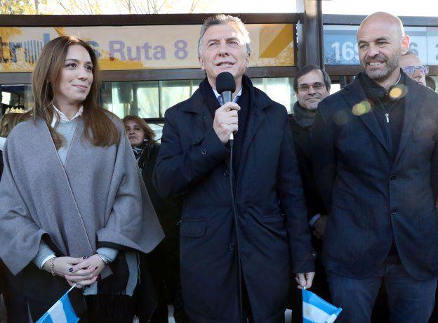 El presidente Mauricio Macri encabezó la inauguración de la extensión  del Metrobus de la ruta 8, durante un acto realizado en el municipio de San Martín