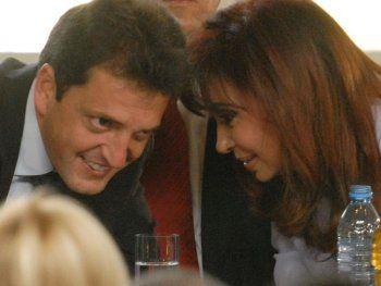 Otros tiempos. Massa y Cristina en 2009 cuando él era Jefe de Gabiente y ella Presidente.