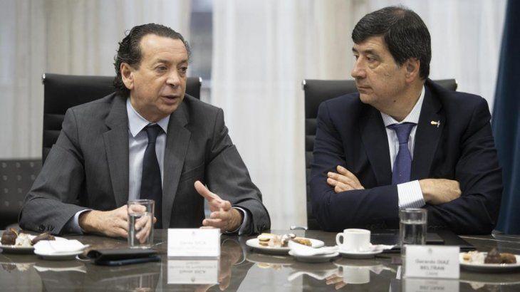 Dante Sica junto al titular de la CAME, Gerardo Díaz Beltrán.