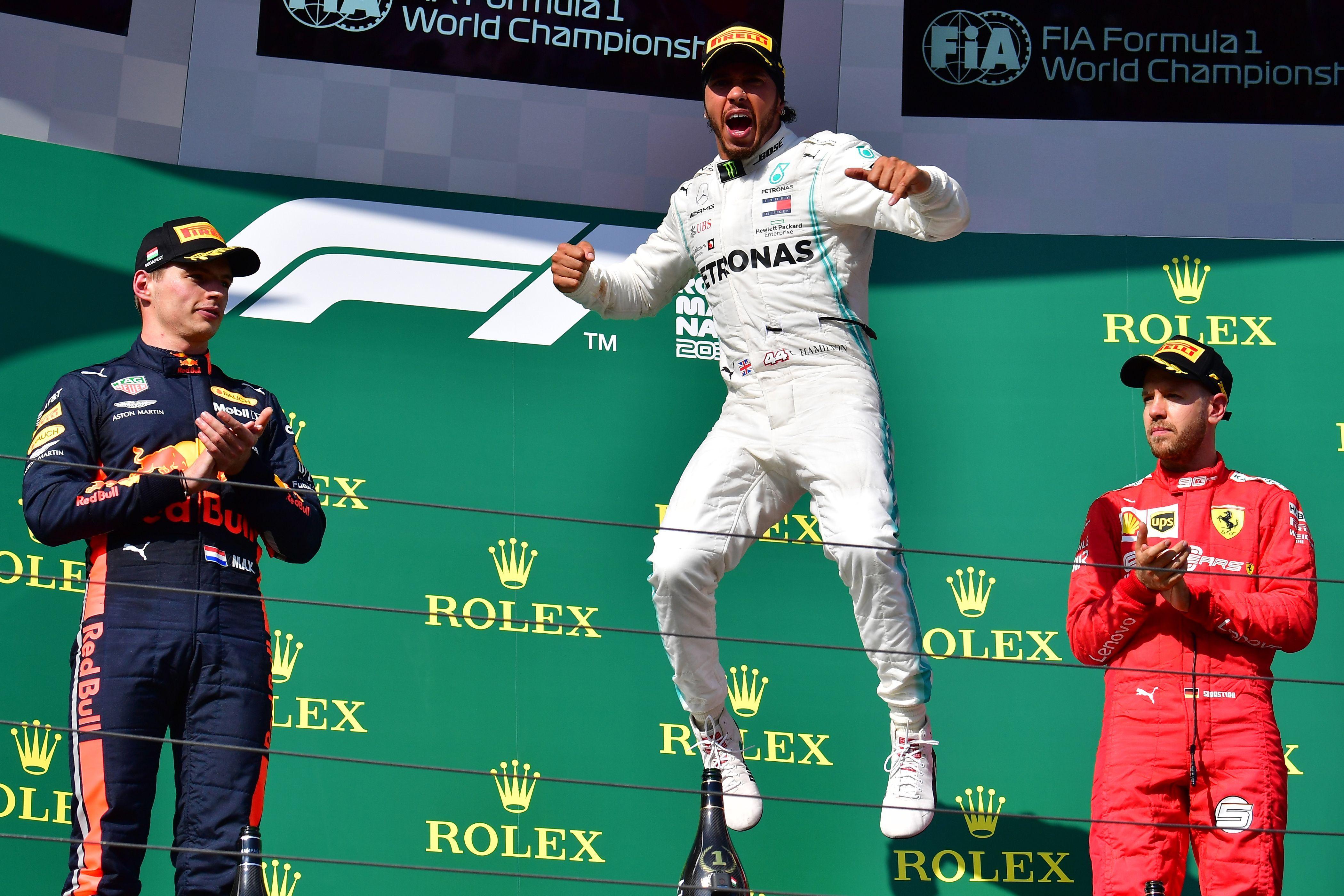 Resultado de imagen para A pura estrategia, Hamilton se quedó con el GP de Hungría