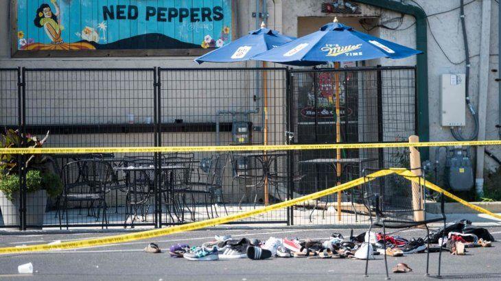 Las inmediaciones del lugar del ataque en Ohio.