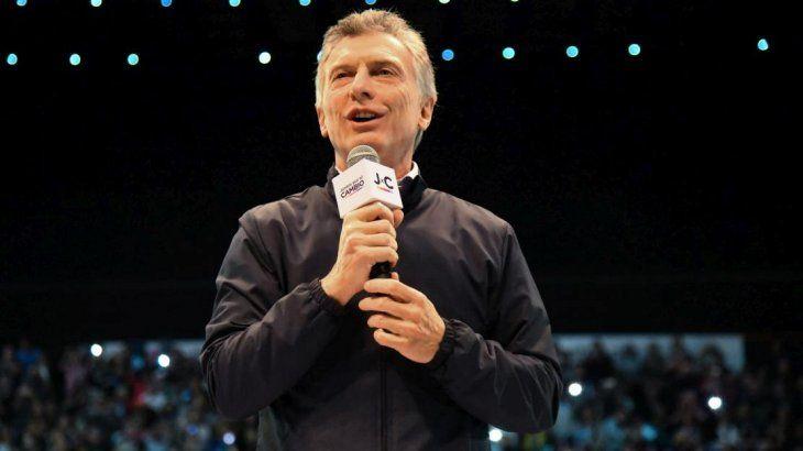 <p>Mauricio Macri encabezará el discurso de cierre de campaña.</p>