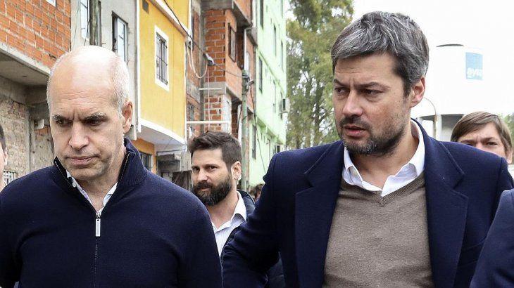 <p>Horacio Rodríguez Larreta y Matías Lamens.</p>