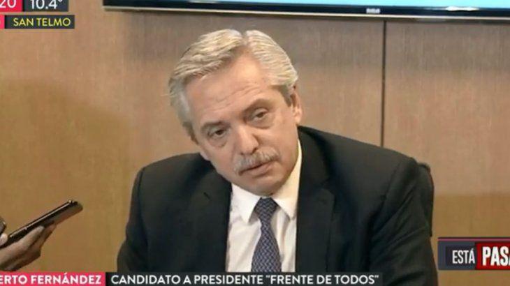 Alberto sobre el llamado de Macri: Tuvimos una buena charla y le manifesté mi voluntad de ayudar