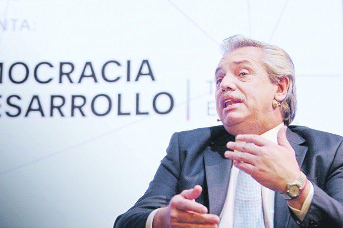 El candidato presidencial Alberto Fernández.