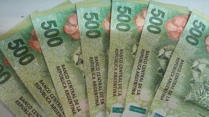 dinero billete 500 pesos
