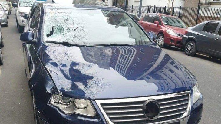 El auto que protagonizó el hecho fue encontrado por la Policía abandonado.