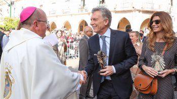 Mauricio Macri participó de la misa de celebración del Señor y la Virgen del Milagro, en Salta.
