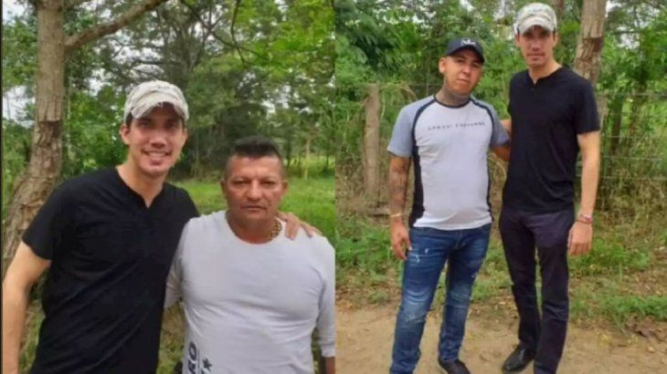 Juan Guaidó junto a paramilitares de Los Rastrojos.