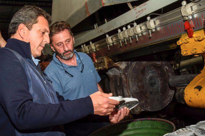 <p>El candidato a diputado bonaerense del Frente de Todos recorrió pymes locales. </p>