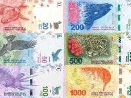 Según la información difundida por el BCRA, en la actualidad circulan más de 5,4 millones de billetes de distintos valores.