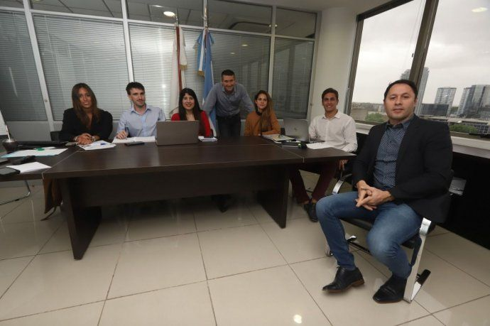 Parte del equipo de Juan G. Corvalán, en el Ministerio Público Fiscal de CABA.